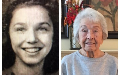 1940 Washington High graduate Frances Butts at age 17 and at age 96 3/4. Her 97th birthday is next month.