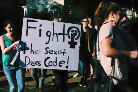 Students protest harsh and unfair dresscode at Montclair High School.