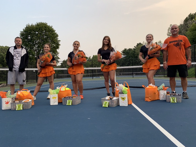 Celebrating Senior Night at the Tennis Courts